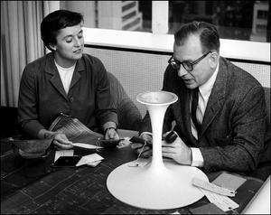 Florence Knoll and Eero Saarinen, long time colleagues at Cranbrook